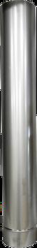 Verlängerung Ofenrohr 1m, aus Edelstahl