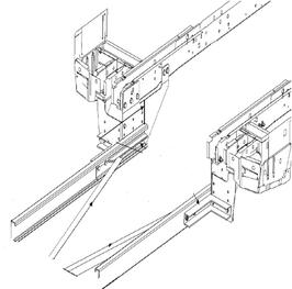 Rahmenverlängerung Ford Transit V350 Flachboden ab Bj. 2000