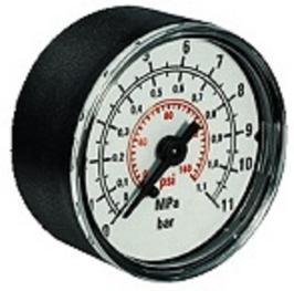 Manometer 40mm 0-10bar/psi*M