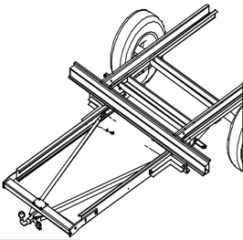 Anhängerkupplung Variabel 12,5 kN inkl. Rahmenverlängerung Renault Master X70 ab Bj. 1998 bis Bj. 05/2010