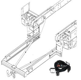 Anhängerkupplung Variabel 12,5 kN inkl. Rahmenverlängerung Ford Transit V185 Flachboden ab Bj. 2000 und Elektrokabelsatz
