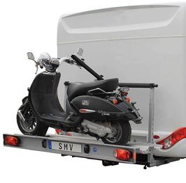 Motorradträger 130kg klappbar mit Leuchtenträger