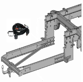 Anhängerkupplung Variabel 12,5 kN inkl. Rahmenverlängerung DC-Sprinter NCV3 ab Bj. 2007 und Elektrokabelsatz ab Bj. 2007