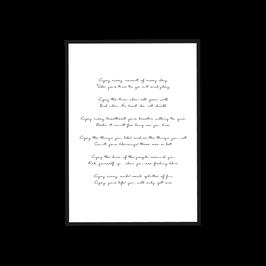 Poster Poem Enjoy'