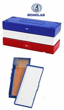"""Caja para 50 Laminillas de 75x25 mm (3""""x1"""") fabricada en plástico ABS, HEATHROW SCIENTIFIC"""