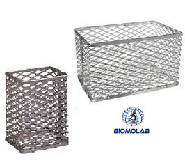 Cestas de aluminio para Tubos de Cultivo. HEATHROW SCIENTIFIC HS20341A & HS20341B