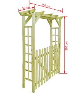 Pergola Grigliata e cancello
