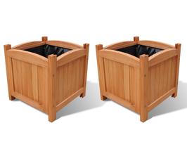 set 2 Fioriere in legno 50x50x50