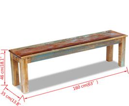 Panca 160cm legno riciclato