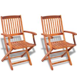 Set 2 sedie Dallas in acacia