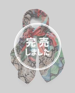 DESIGUAL エキゾチックトロピカル花柄プリントストール 21SAWA44