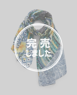 DESIGUAL エキゾチック花柄プリントストール 21SAWA46