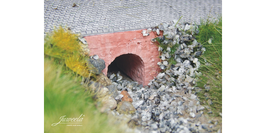 JUWEELA H0 Kleine Brücken, Wasserdurchlässe, Ziegel rot (28287)