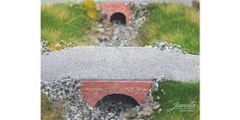 JUWEELA H0 Brücke, Wasserdurchlass, Ziegel rot (28291)