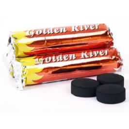 Räucherkohle  Golden River  10 Tabletten 3,3cm Durchmesser