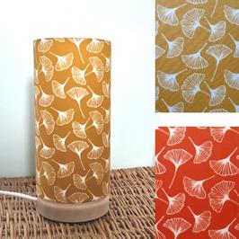LAMPE A POSER SOCLE Gingko enduit coloris au choix