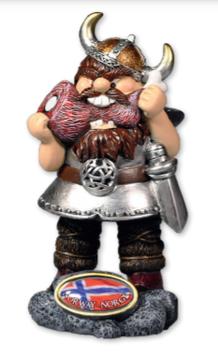 Vikingfigur med kjøtt bein
