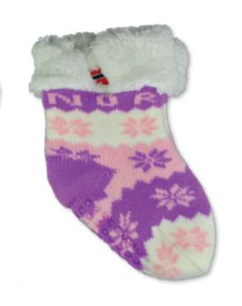 Fòret baby sokk, snøstjerne, Rosa