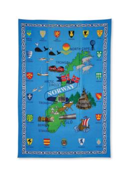 Kjøkkenhåndkle, Norgeskart