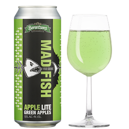 Mad Fish Apple Lite 0,5l Boks, 4,0% Alkohol