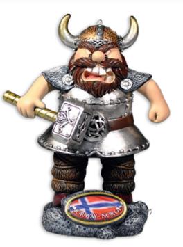 Vikingfigur med Tor's hammer