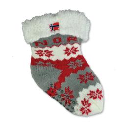 Fòret baby sokk, snøstjerne, Rød