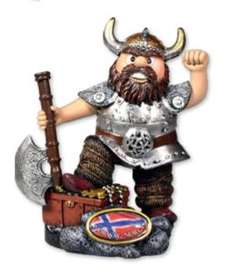 Vikingfigur med skattekiste