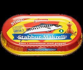 Makrellfilet i tomatsaus med pepper