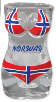 Drammebeger, bikini Norsk flagg
