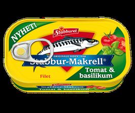 Makrellfilet tomat & basilikum