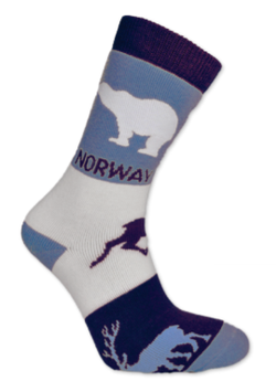 Tykk sokk, Dyr, blå