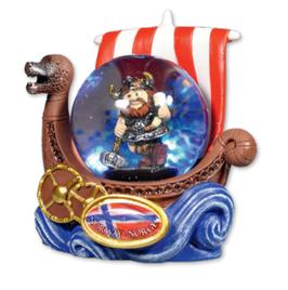 Snøkule liten, Viking med ølhorn