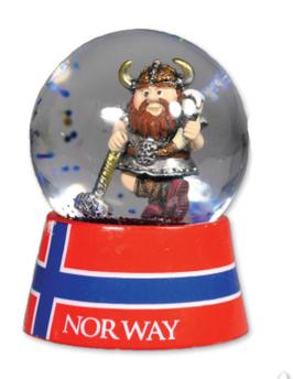 Snøkule stor, Viking med ølhorn