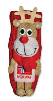 Reinsdyr figur sokk