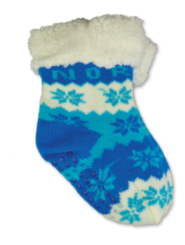 Fòret baby sokk, snøstjerne, Blå