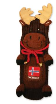Elgfigur sokk med Norsk flagg