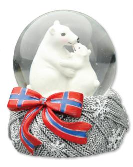 Snøkule, Isbjørn, mor + barn