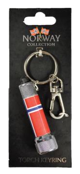 Metall nøkkelring, Lommelykt Flagg