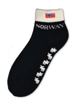 Tykk kort sokk, elg+flagg