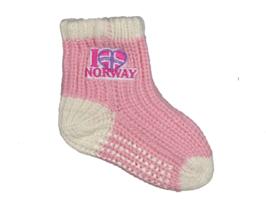 Strikket sokk rosa