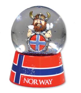 Snøkule stor, Viking med flaggskjold