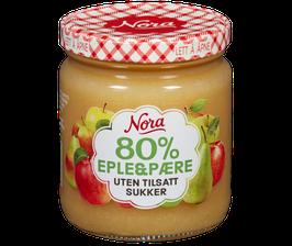 Nora Uten tilsatt sukker Eple og Pære 285 g