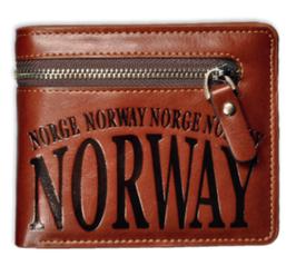 Skinn lommebok med glidelås, Norway
