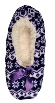 Lav tøffel med fòr, lilla 36-40