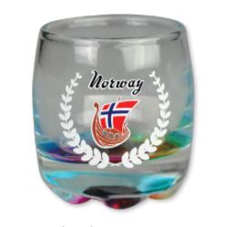 Regnbue shot glass, Vikingskip