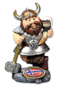 Vikingfigur med ølhorn