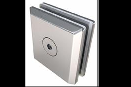 1266 Clip  de Aluminio para vidrio templado