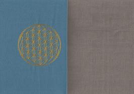 Blume des Lebens Blau + Steingrau