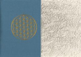 Blume des Lebens Blau + Baumwollplüsch