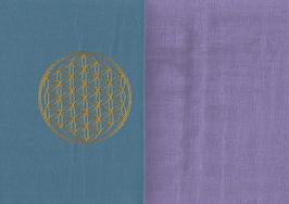 Blume des Lebens Blau + Flieder